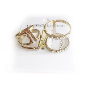 BCBGENERATION DAINTY RINGS GOLD TONED LAYER STACK